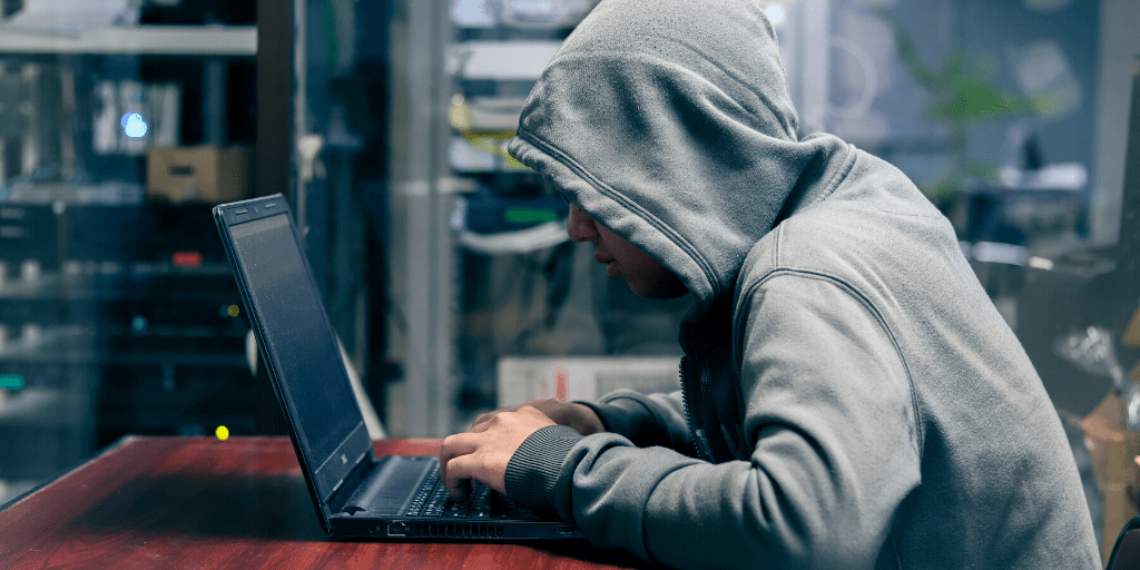 hacker searching the Internet