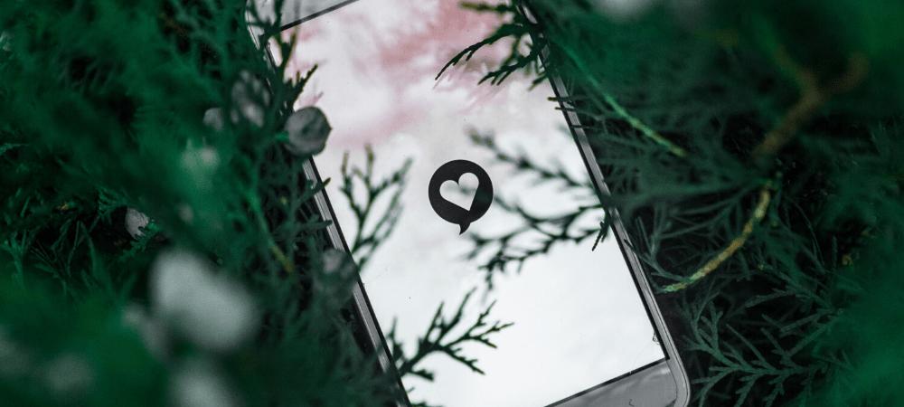 phone with social media footprints