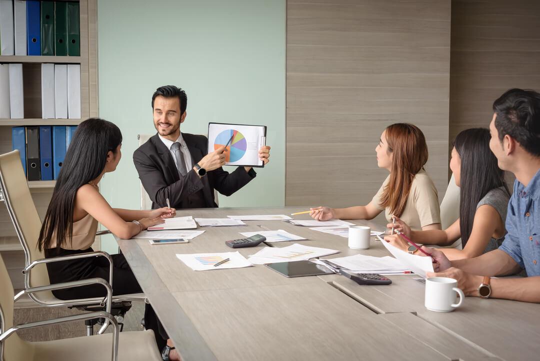 digital risk management team meeting